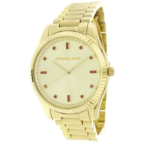 627-170 - Michael Kors Women's Blake Quartz Crystal Accented Dial Stainless Steel Bracelet Watch