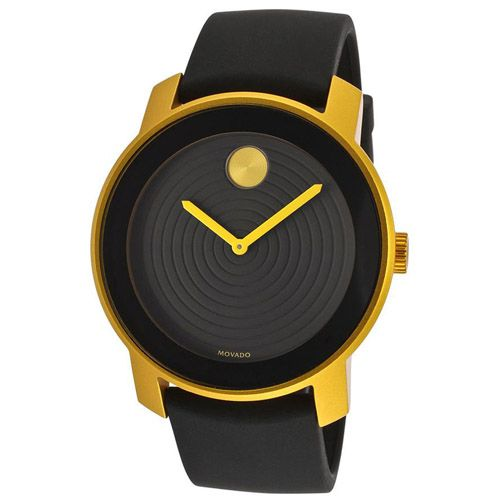 627-188 - Movado 43.5mm Swiss Quartz Black Rubber Strap Watch