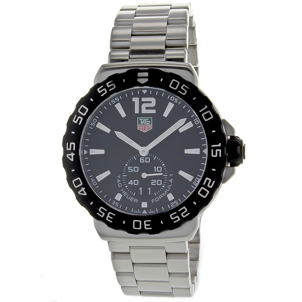 627-197 - Tag Heuer 42mm Formula 1 Swiss Quartz Silver-tone Stainless Steel Bracelet Watch