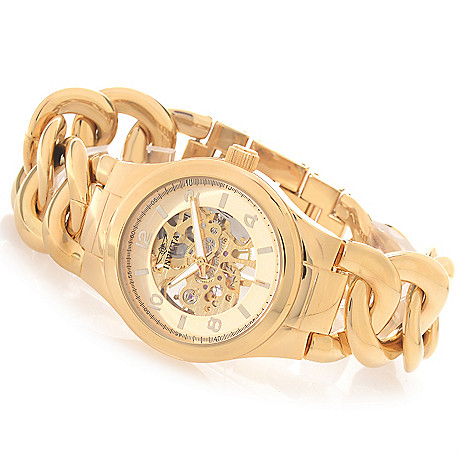 627-199 - Invicta Women's Angel Mechanical Stainless Steel Braided Bracelet Watch