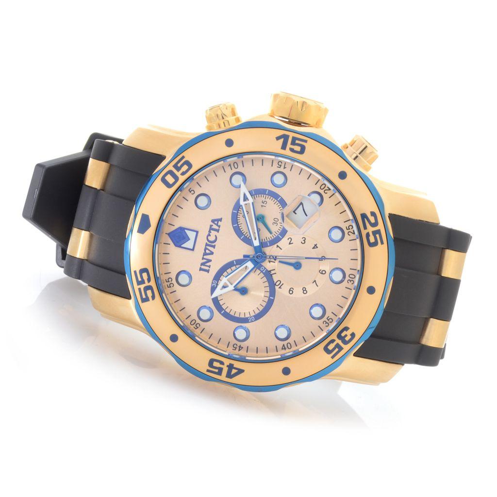 627-206 - Invicta 48mm Pro Diver Scuba Quartz Chronograph Stainless Steel Bracelet Watch w/ One-Slot Dive Case