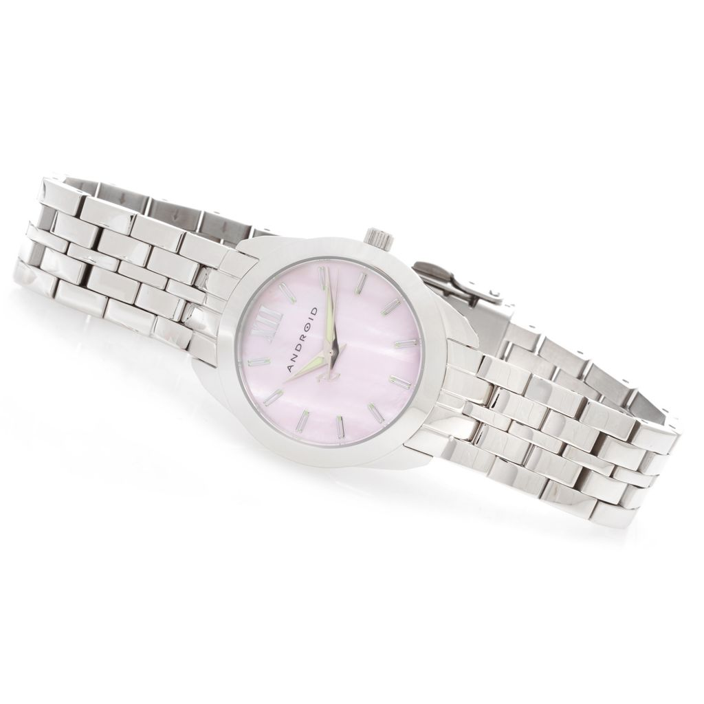 627-235 - Android Women's Idyllic Quartz Mother-of-Pearl Stainless Steel Bracelet Watch