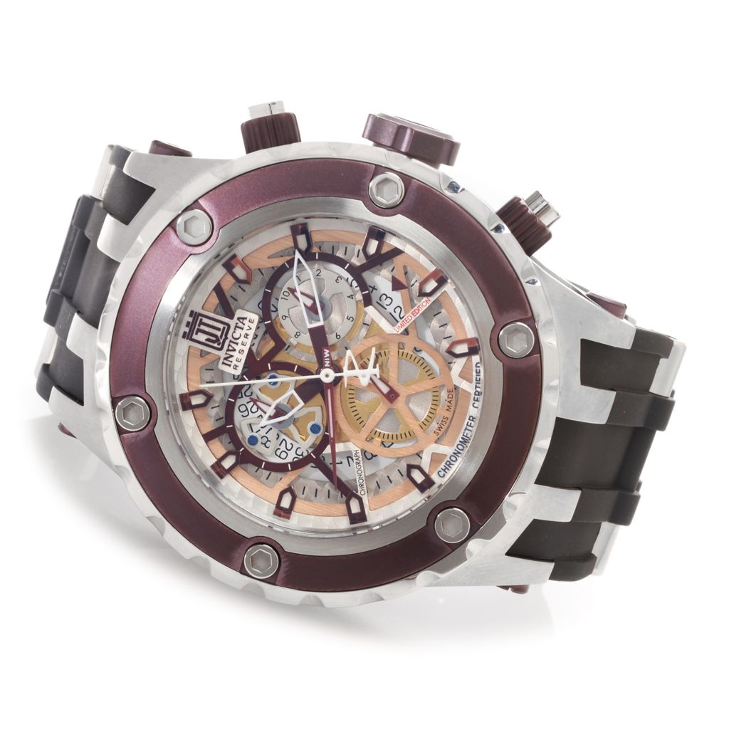 627-242 - Invicta Reserve 52mm Jason Taylor Specialty Subaqua Swiss COSC Strap Watch w/ Three-Slot Dive Case