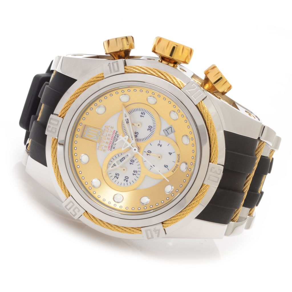 627-243 - Invicta Reserve 53mm Jason Taylor Bolt Zeus Limited Edition Strap Watch w/ Three-Slot Dive Case