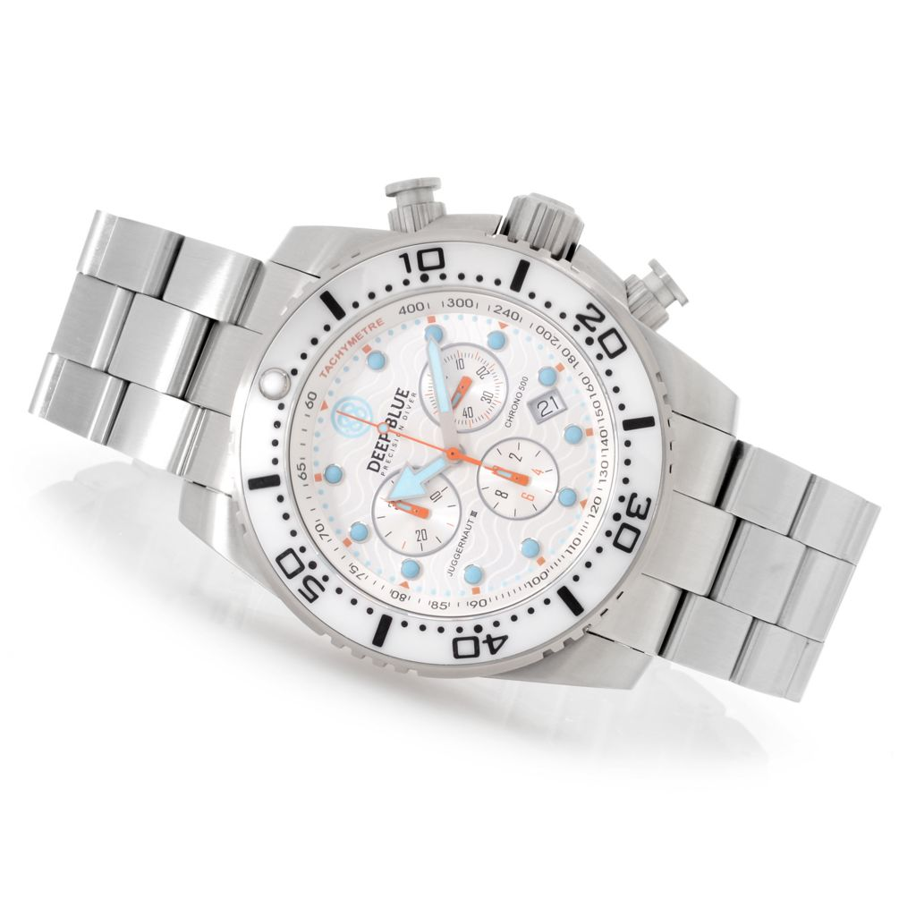 627-250 - Deep Blue 45mm Juggernaut III Swiss Quartz Chronograph Stainless Steel Bracelet Watch
