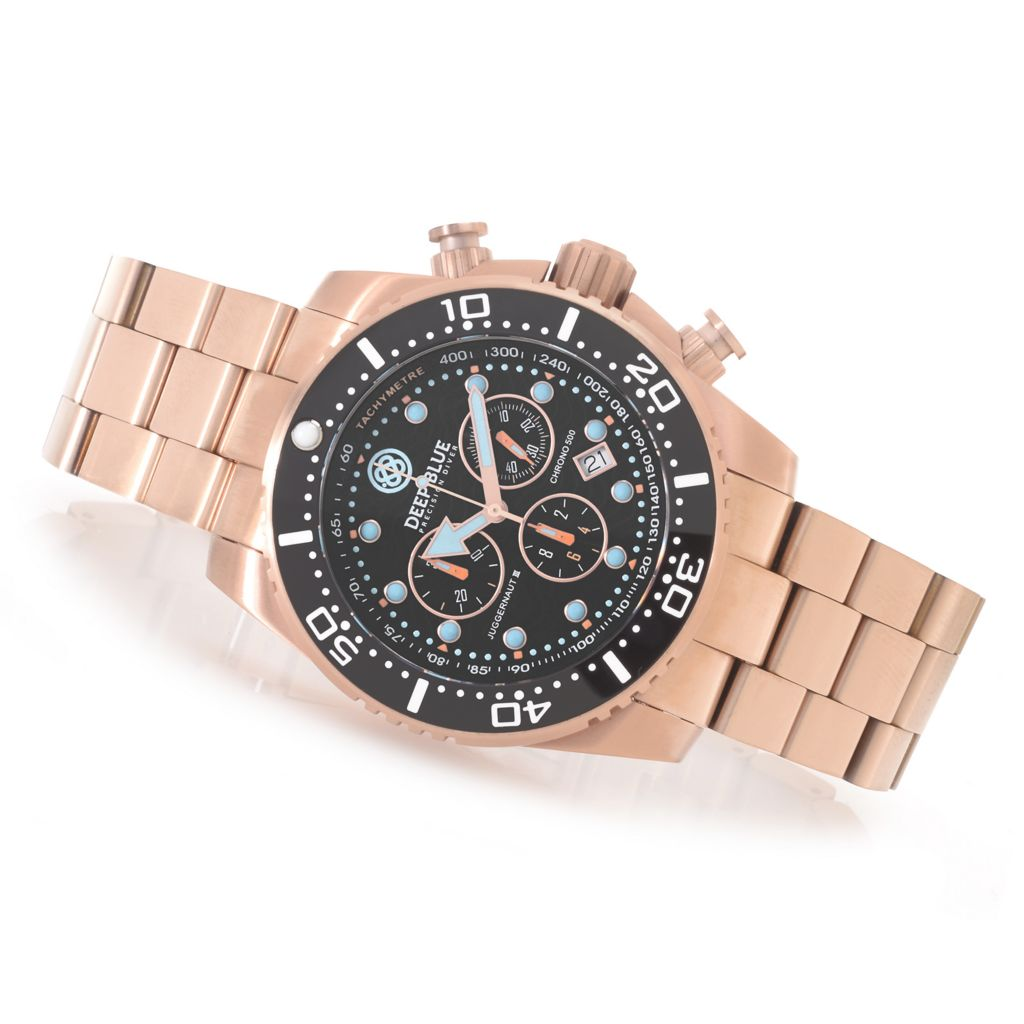 627-251 - Deep Blue 45mm Juggernaut III Swiss Chronograph Stainless Steel Bracelet Watch