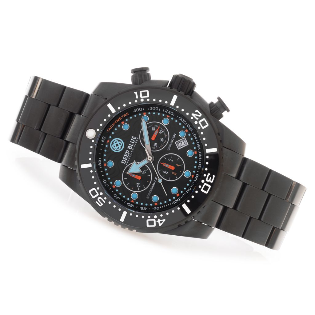 627-252 - Deep Blue 45mm Juggernaut III Swiss Chronograph Stainless Steel Bracelet Watch