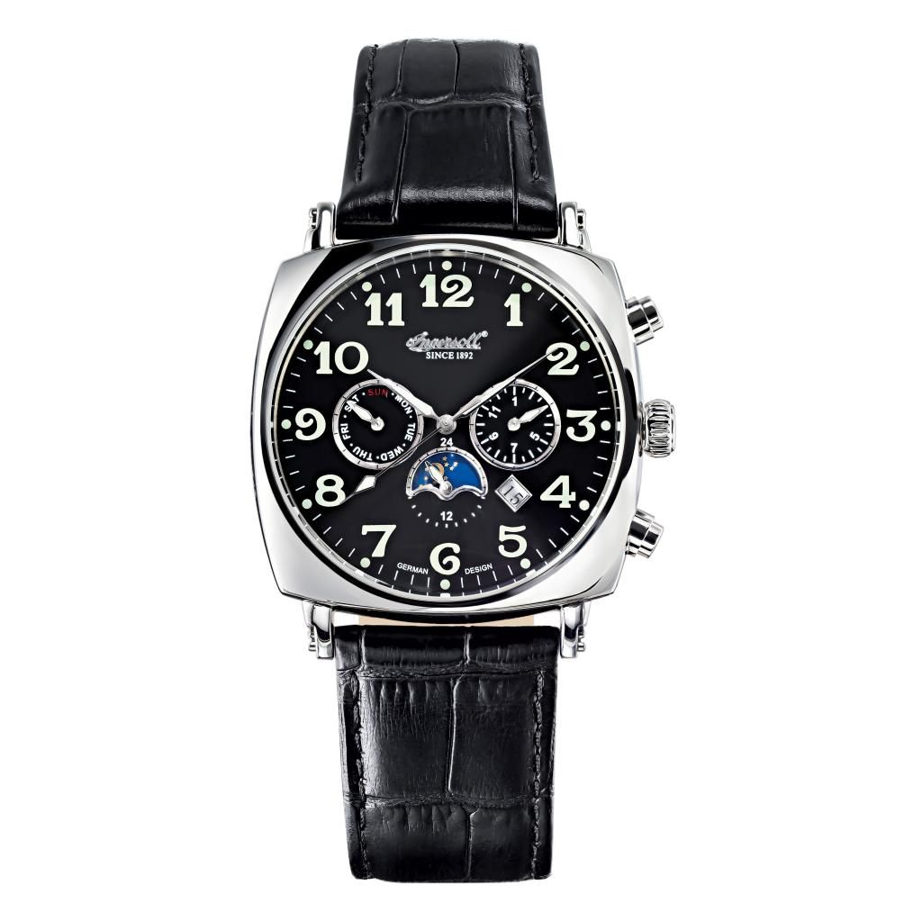 627-255 - Ingersoll 42mm Corondo Automatic Master Calendar Leather Strap Watch