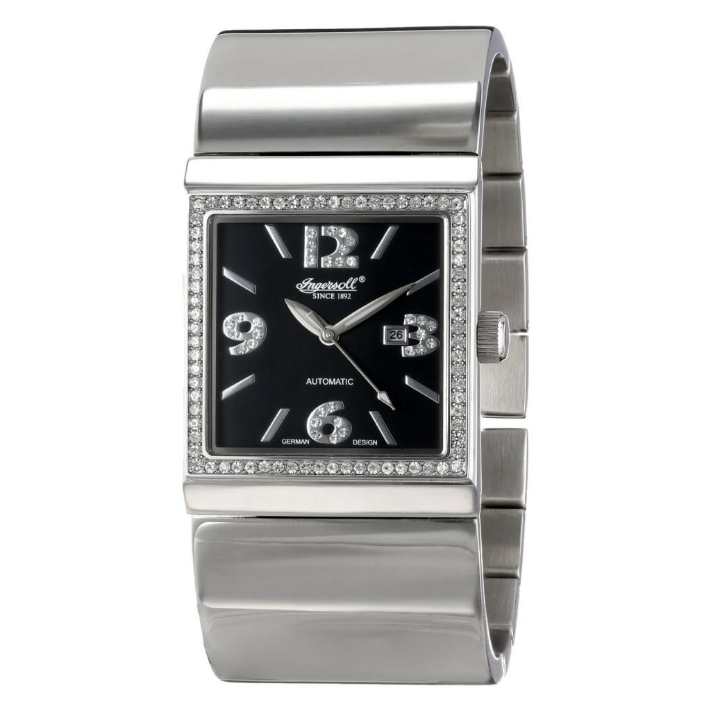 627-277 - Ingersoll Women's Carthage Automatic Crystal Accented Stainless Steel Bracelet Watch