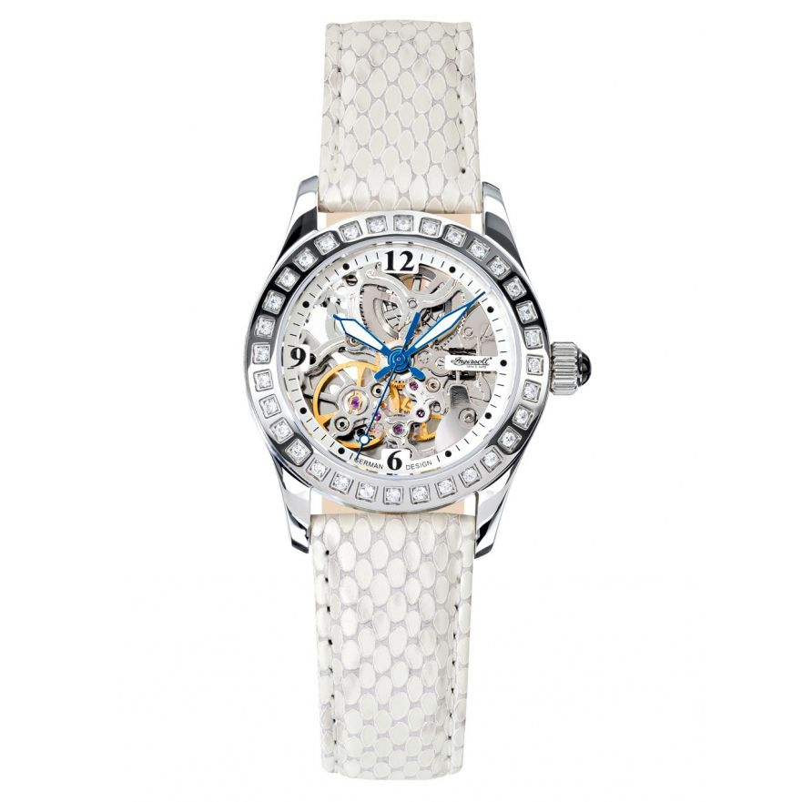 627-278 - Ingersoll Women's Tempico Automatic Skeletonized Stainless Steel Leather Strap Watch