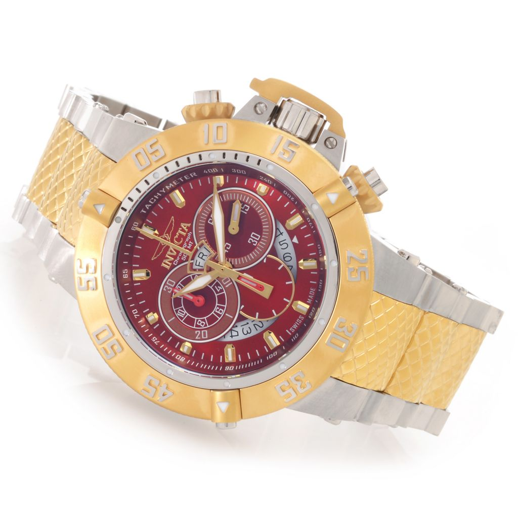 627-309 - Invicta 50mm Subaqua Noma III Swiss Chronograph Bracelet Watch w/ One-Slot Dive Case