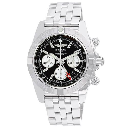 627-323 - Breitling 44mm Chronomat GMT Swiss Automatic Chronograph Stainless Steel Bracelet Watch
