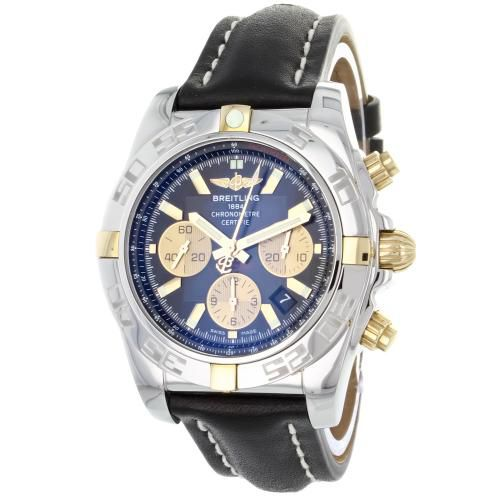 627-325 - Breitling 44mm Chronomat Swiss Automatic Chronograph Leather Strap Watch
