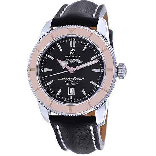 627-327 - Breitling Superocean Heritage 46 Swiss Automatic Leather Strap Watch