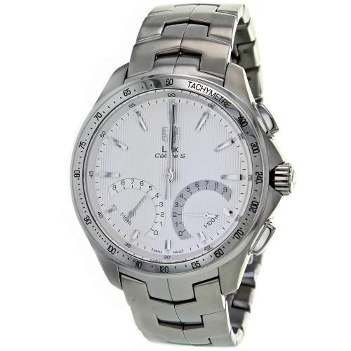 627-334 - Tag Heuer 43mm Link Calibre S Swiss Automatic Chronograph Stainless Steel Bracelet Watch