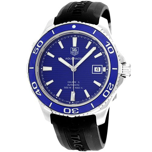 627-336 - Tag Heuer 41mm Aquaracer Calibre 5 Swiss Made Automatic Rubber Strap Watch