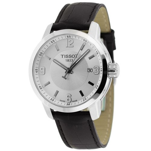 627-340 - Tissot 39mm PRC 200 Swiss Made Quartz Leather Strap Watch