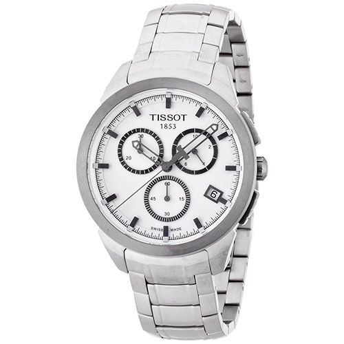627-341 - Tissot 43mm Titanium Chronograph Swiss Made Quartz Bracelet Watch