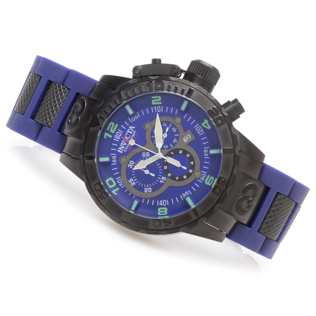 627-343 - Invicta 52mm Corduba Quartz Chronograph Bracelet Watch w/ One-Slot Dive Case
