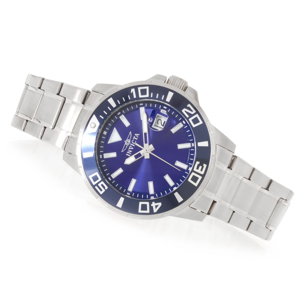 627-348 - Invicta 45mm Pro Diver Quartz Stainless Steel Bracelet Watch w/ Three-Slot Dive Case