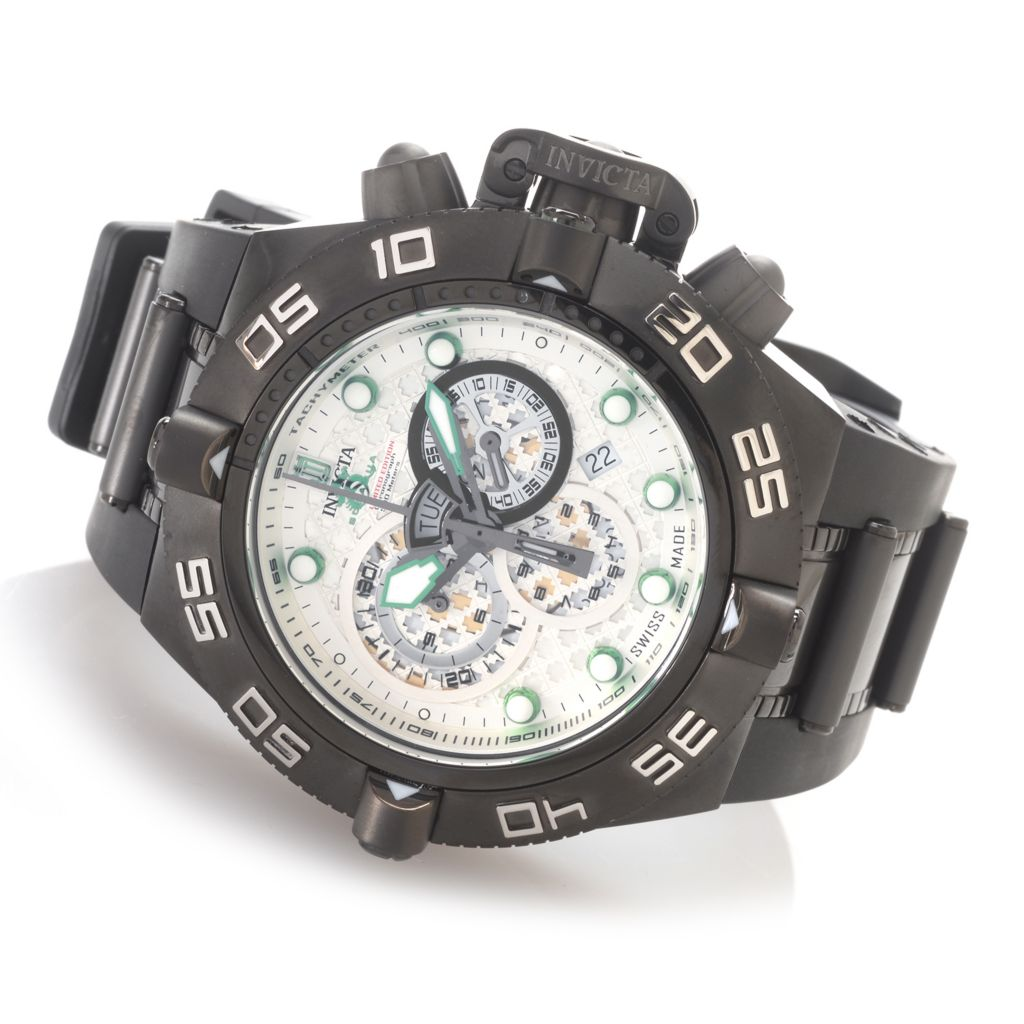 627-354 - Invicta 50mm Jason Taylor Subaqua Noma IV Swiss Made Strap Watch w/ Three-Slot Dive Case