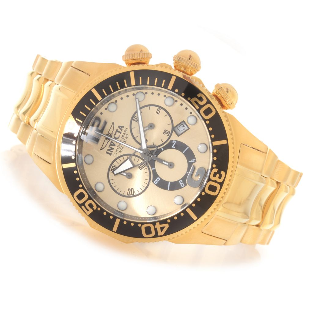 627-356 - Invicta 47mm Lupah Diver Quartz Chronograph Bracelet Watch w/ One-Slot Dive Case