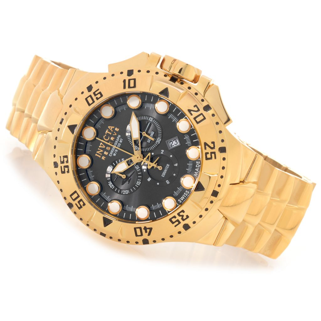 627-358 - Invicta Reserve 50mm Excursion Swiss Chronograph Bracelet Watch w/ One-Slot Dive Case