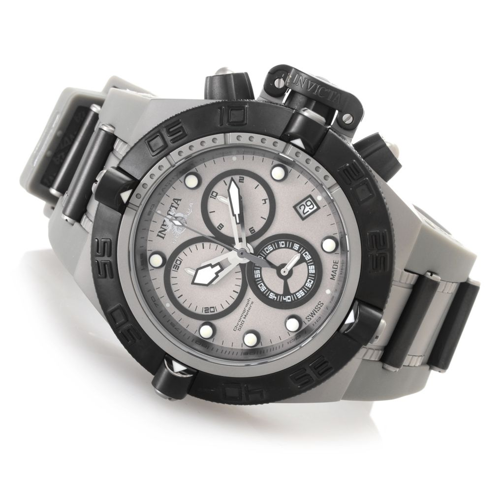 "627-367 - Invicta 50mm Subaqua Noma IV Swiss Made ""Shark Edition"" Strap Watch w/ Eight-Slot Dive Case"