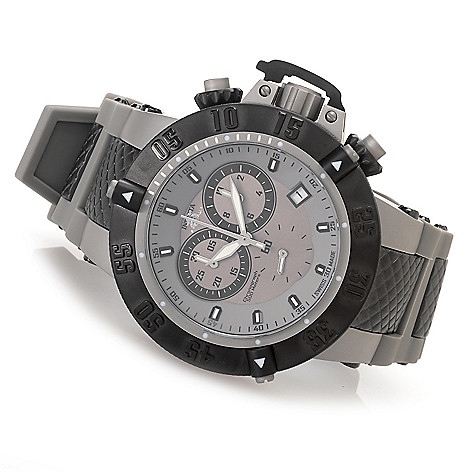 627-369 - Invicta 50mm Subaqua Noma III ''Shark Edition'' Swiss Chronograph Strap Watch w/ Eight-Slot Dive Case