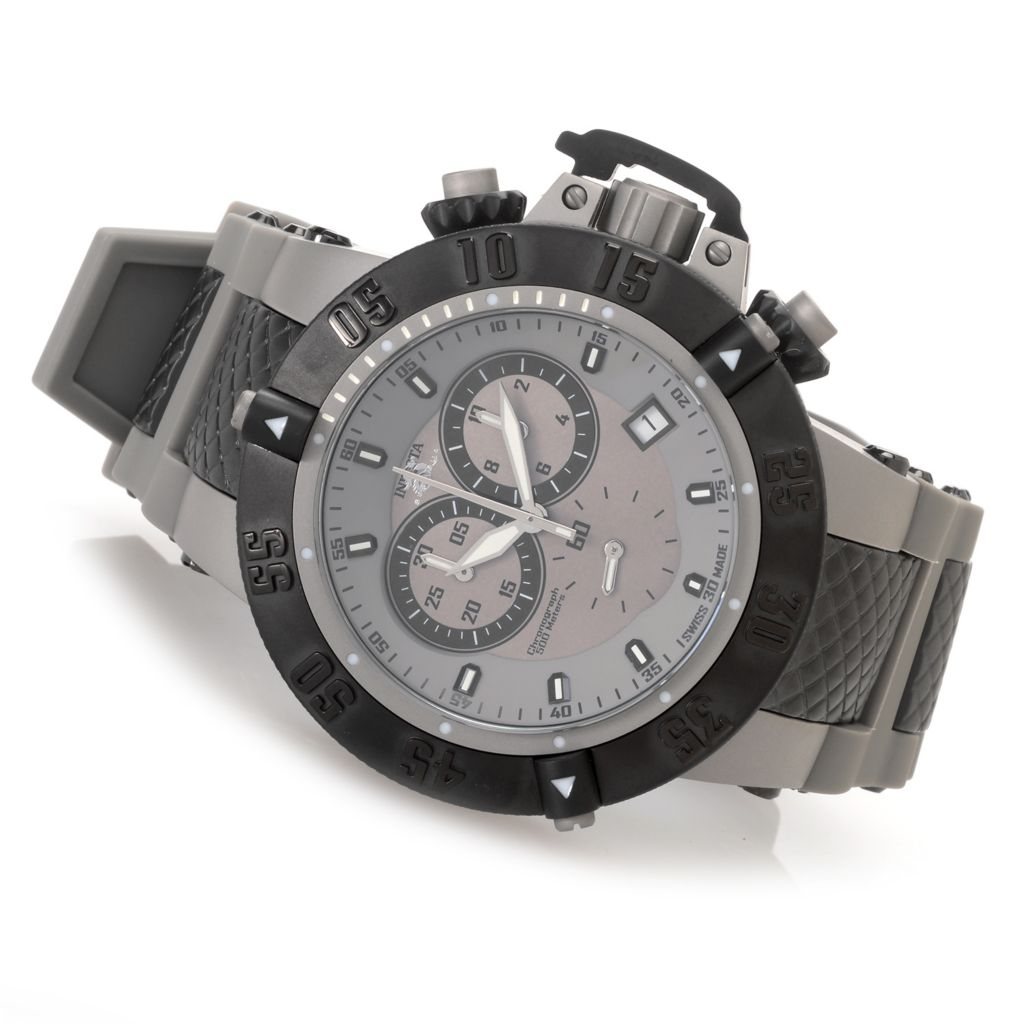 627-369 - Invicta 50mm Subaqua Noma III Swiss Chronograph Silicone Strap Watch w/ Eight-Slot Dive Case