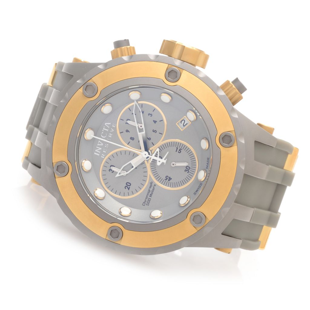 627-373 - Invicta Reserve 52mm Specialty Subaqua Diver Polyurethane Strap Watch w/ Eight-Slot Dive Case