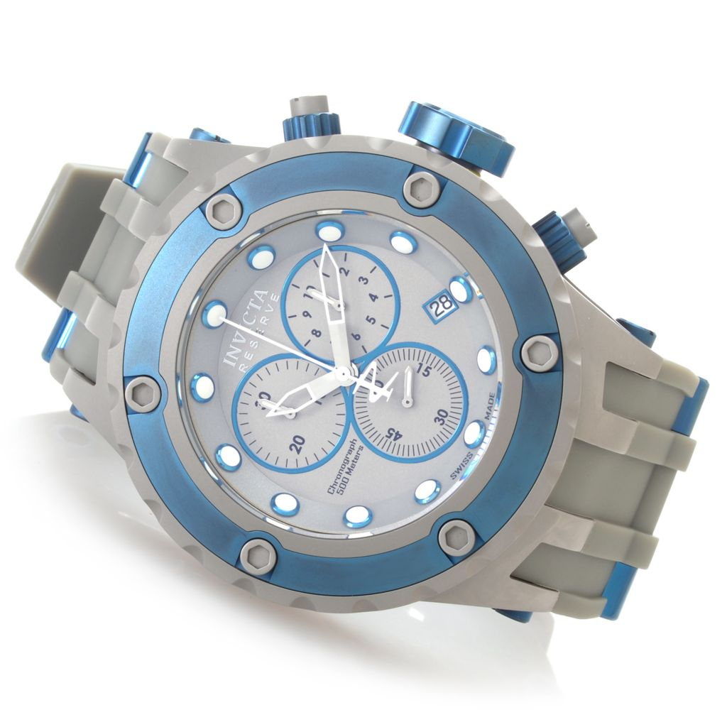 "627-375 - Invicta Reserve 52mm Specialty Subaqua ""Shark Edition"" Strap Watch w/ Eight-Slot Dive Case"