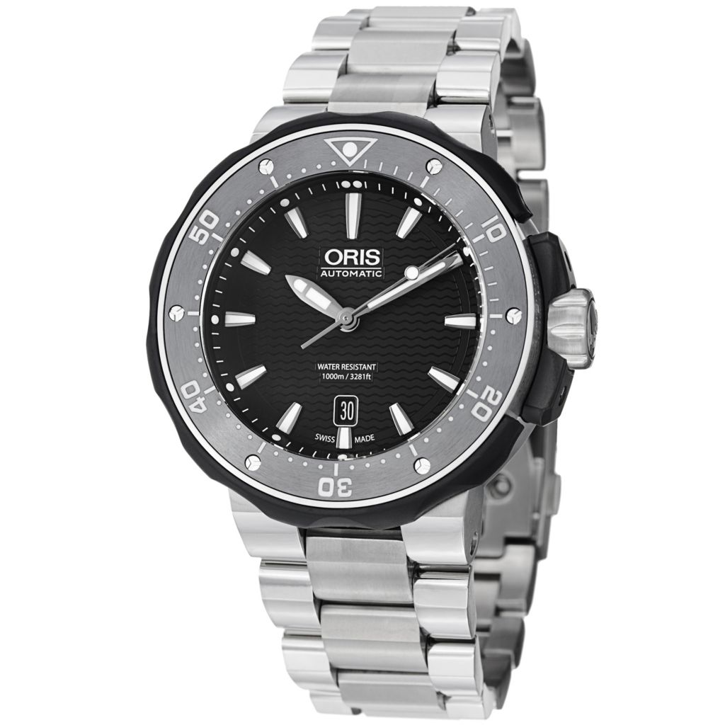 627-399 - Oris 49mm ProDiver Swiss Automatic Date Titanium Bracelet Watch