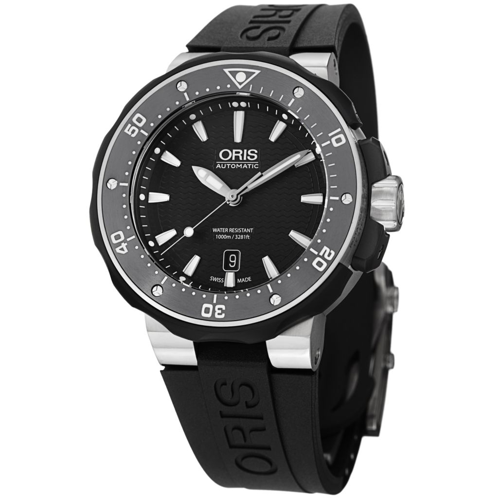 627-400 - Oris 49mm ProDiver Swiss Automatic Date Rubber Strap Watch