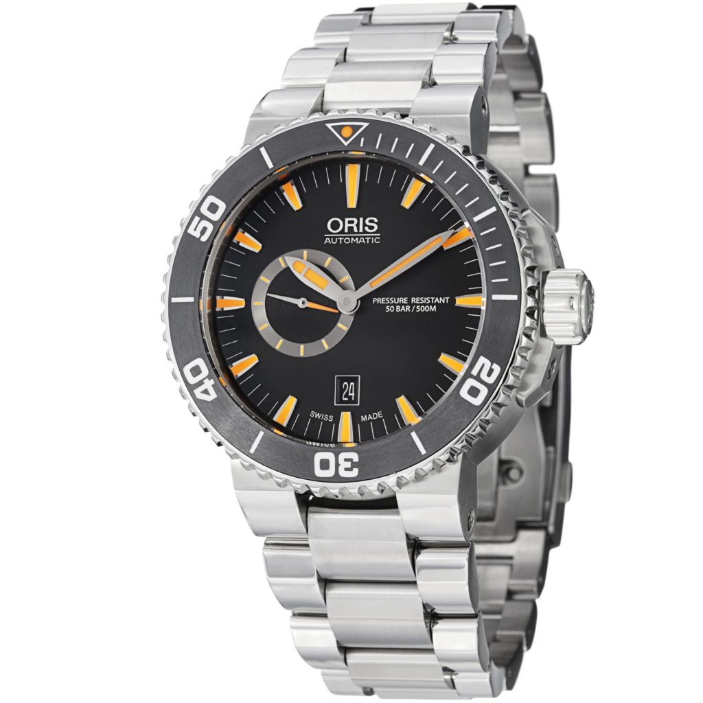 627-408 - Oris 46mm Aquis Swiss Automatic Stainless Steel Bracelet Watch