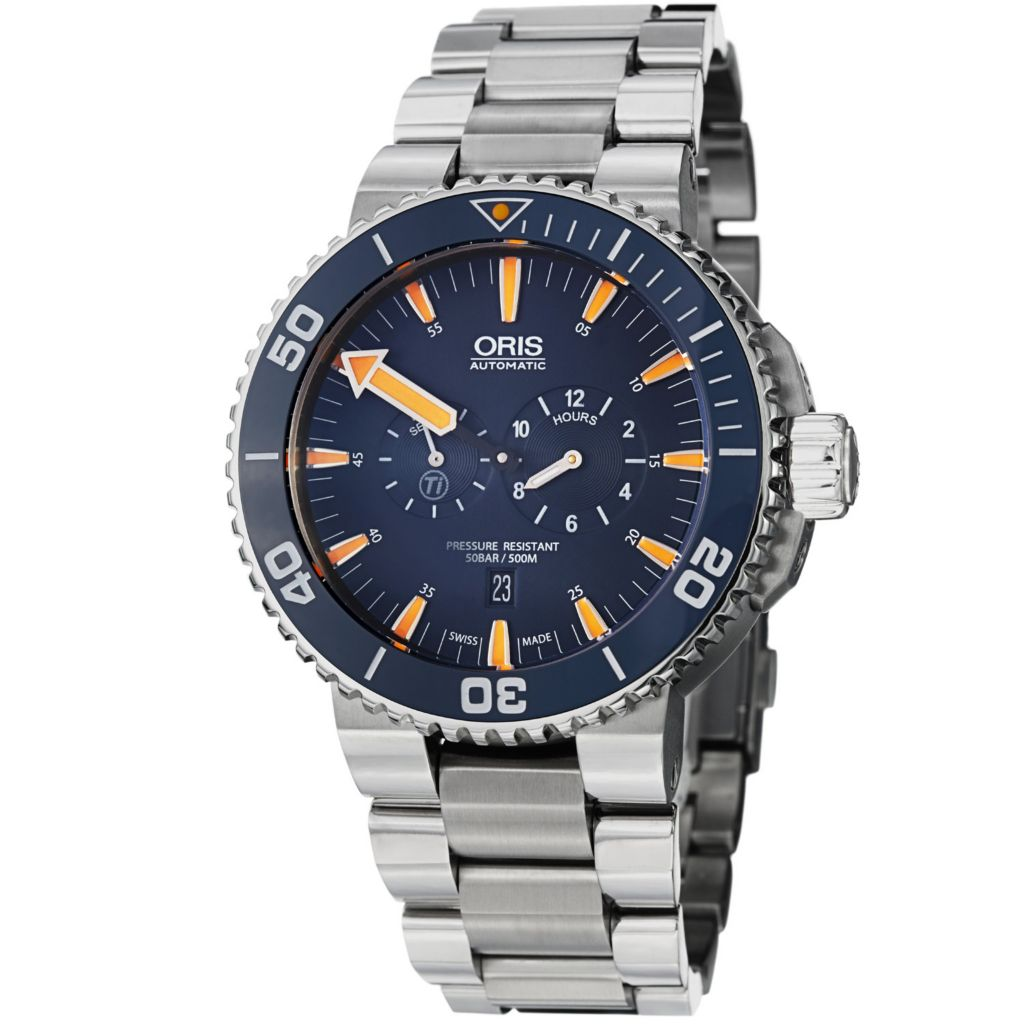 627-411 - Oris 46mm Aquis Tubbataha Limited Edition Swiss Made Automatic Titanium Bracelet Watch
