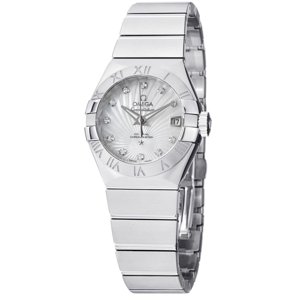 627-440 - Omega Women's Constellation Swiss Automatic Mother-of-Pearl Dial Accent Bracelet Watch