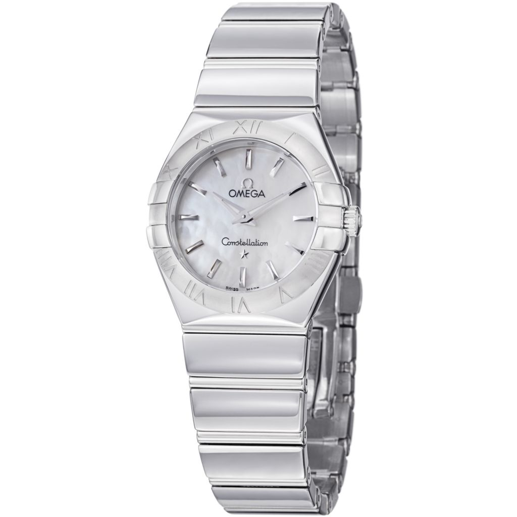 627-441 - Omega Women's Constellation Swiss Quartz Mother-of-Pearl Dial Stainless Steel Bracelet Watch