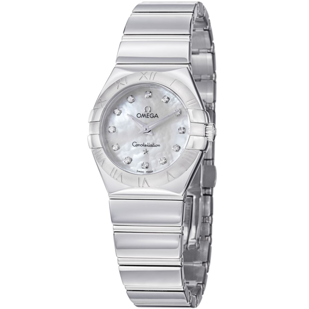 627-443 - Omega Women's Constellation Swiss Quartz Mother-of-Pearl Diamond Accent Bracelet Watch