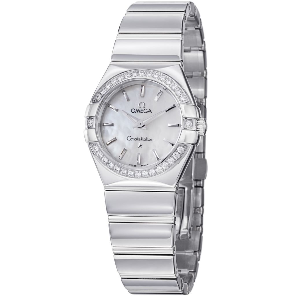 627-446 - Omega Women's Constellation Swiss Quartz Mother-of-Pearl Diamond Accent Bracelet Watch