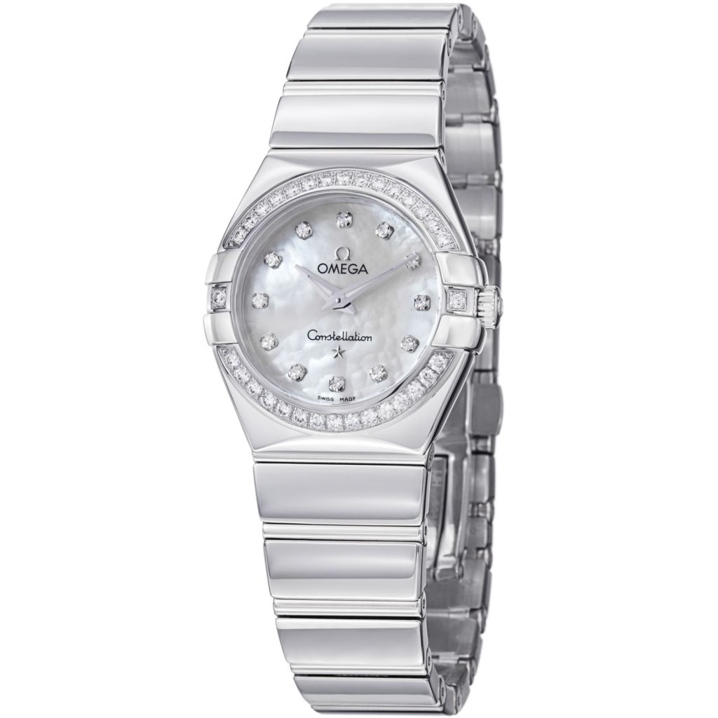 627-447 - Omega Women's Constellation Swiss Quartz Mother-of-Pearl Diamond Accent Bracelet Watch