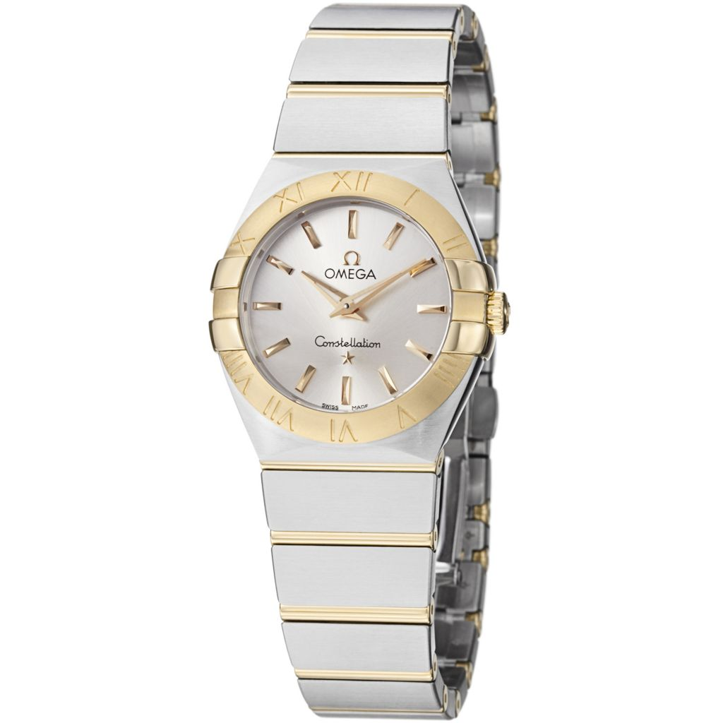 627-448 - Omega Women's Constellation Swiss Quartz 18K Gold Stainless Bracelet Watch