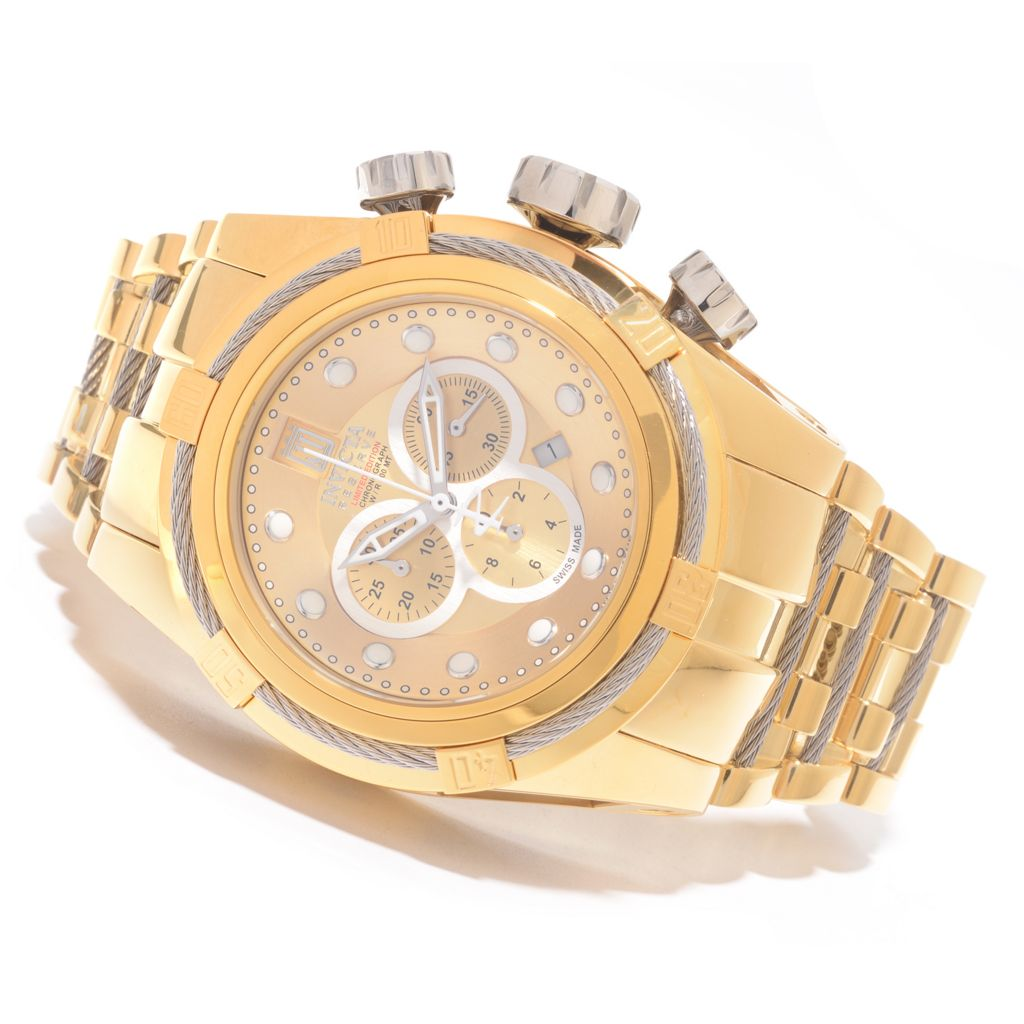 627-458 - Invicta Reserve 52mm Jason Taylor Bolt Zeus Swiss Chronograph Bracelet Watch w/ Three-Slot Dive Case