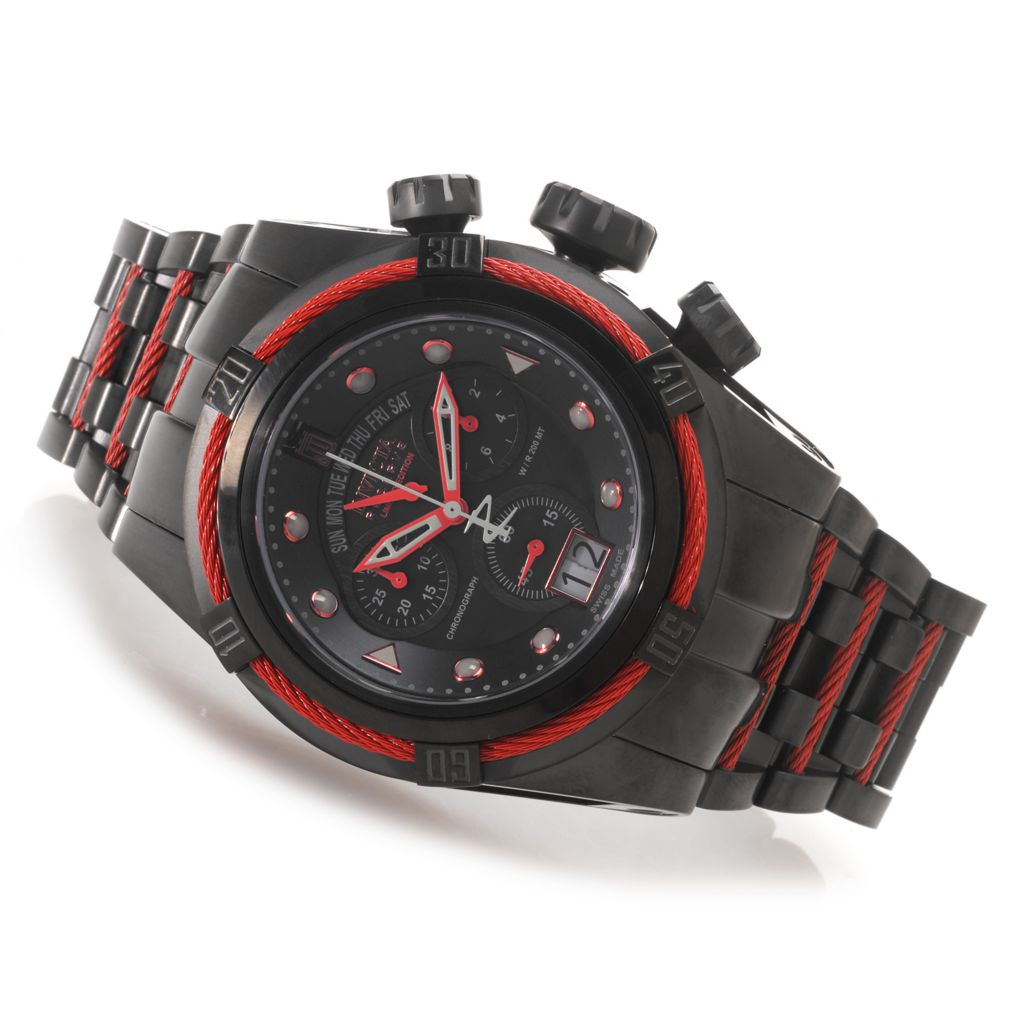 627-460 - Invicta Reserve 52mm Jason Taylor Bolt Zeus Swiss Chronograph Watch w/ Three-Slot Dive Case