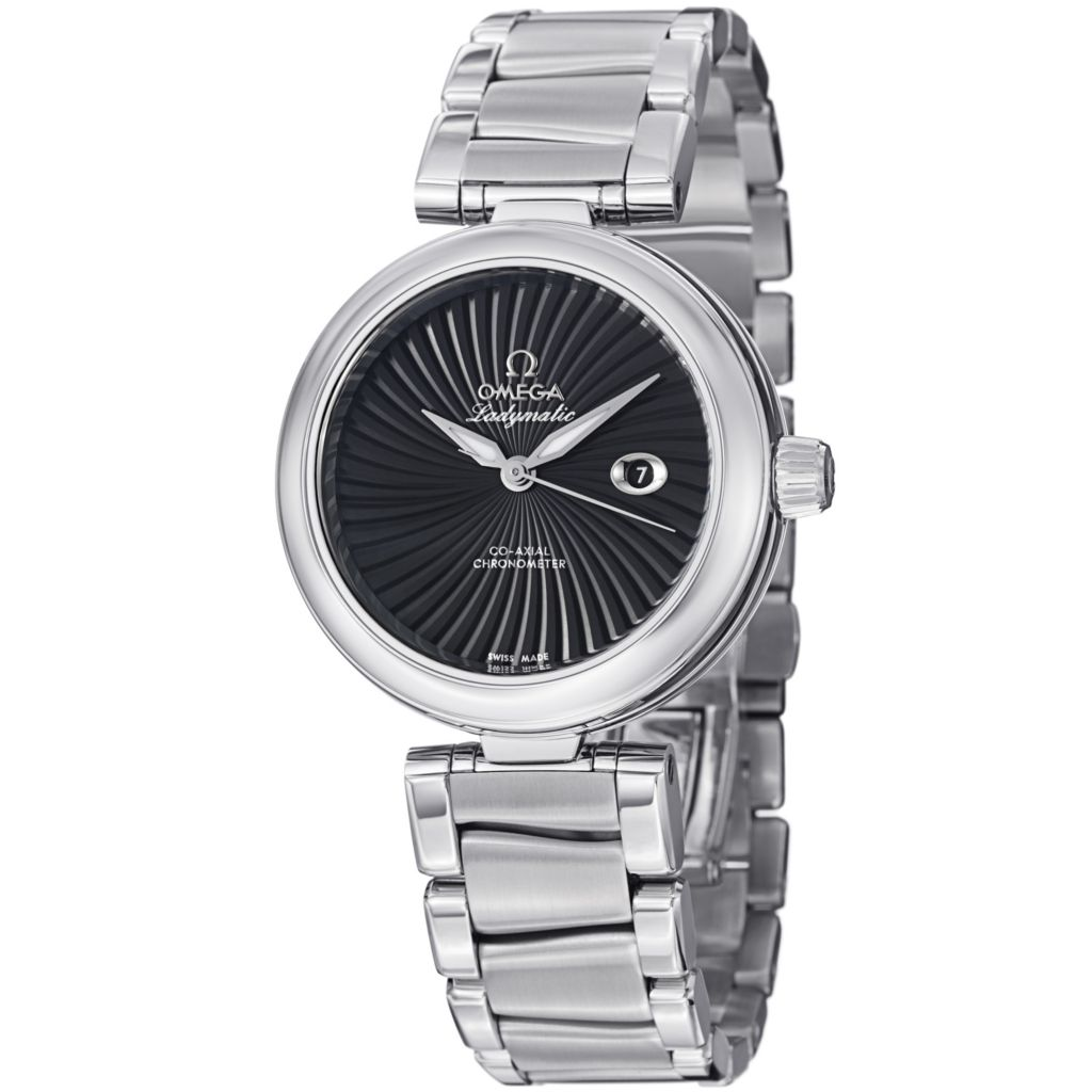 627-468 - Omega Women's De Ville Ladymatic COSC Swiss Automatic Stainless Steel Bracelet Watch