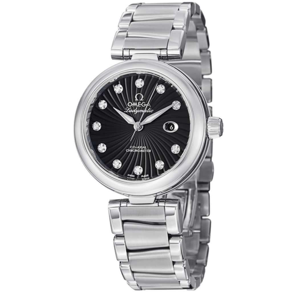 627-469 - Omega Women's De Ville Ladymatic COSC Swiss Automatic Diamond Accent Bracelet Watch