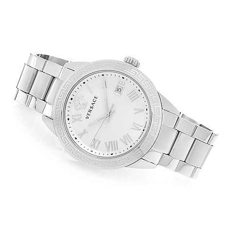 627-475 - Versace 34mm or 41mm Landmark Swiss Made Quartz Stainless Steel Bracelet Watch