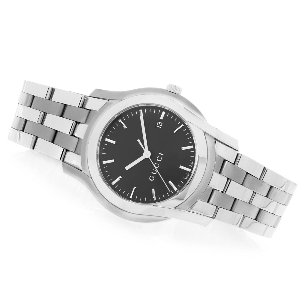 627-479 - Gucci 38mm 5505 G Classic Swiss Made Quartz Stainless Steel Bracelet Watch