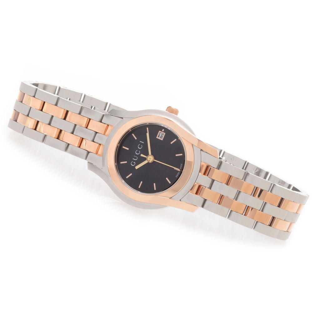 627-480 - Gucci Women's 5505 G Classic Swiss Made Quartz Stainless Steel Bracelet Watch
