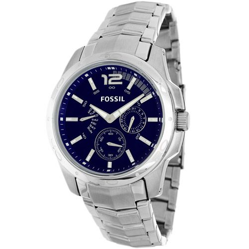 627-493 - Fossil 42mm Classic Quartz Multi Function Stainless Steel Bracelet Watch